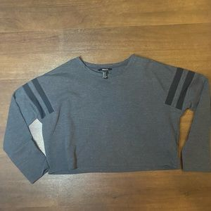 Forever 21 long sleeved crop top - M